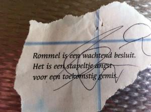 Rommel is een wachtend besluit.